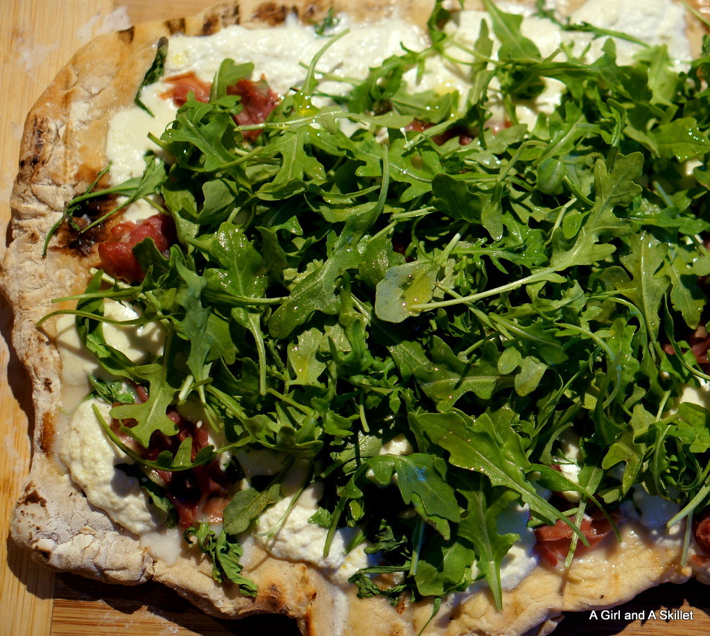 Grilled Pizza with Proscuitto and Arugula