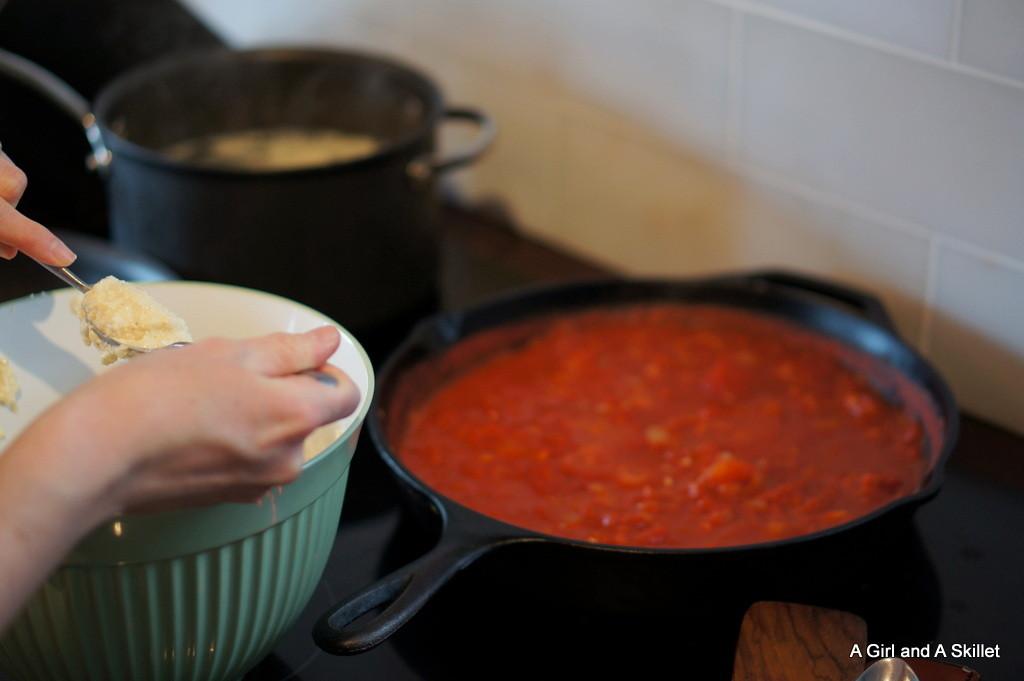 Preparing Ricotta Gnocchi
