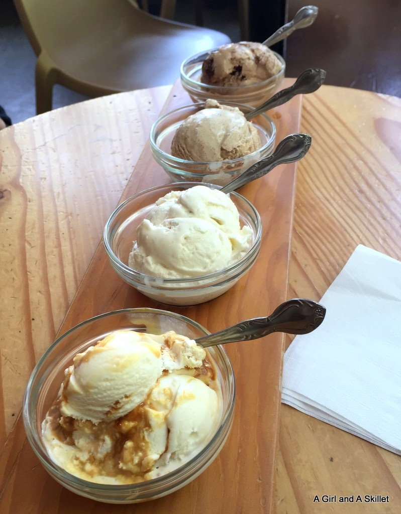 Ice cream flight at Salt and Straw Portland