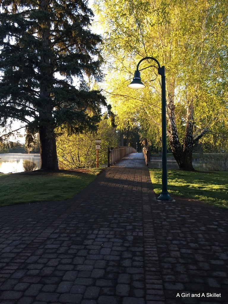 Bridge at Drake Park in Bend, Oregon